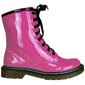 Combat boot in fuchsia