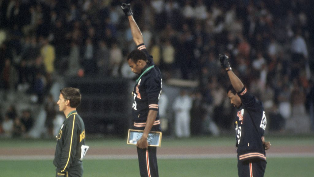 Anti-racist politics finish first at 1968 Olympics