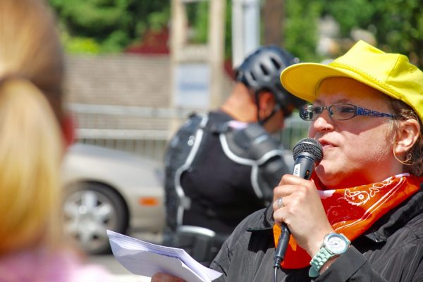 Reproductive rights champions stand strong against Patriot Prayer