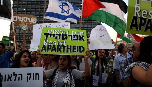 Tens of thousands protest in Tel Aviv against new legislation declaring Israel an explicitly Jewish nation