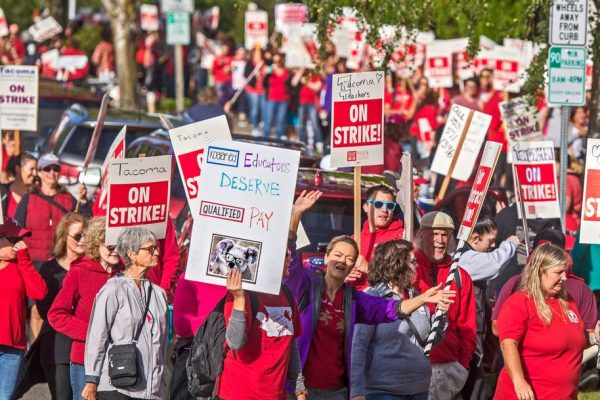 """Teachers' strikes are escalating in Washington"""