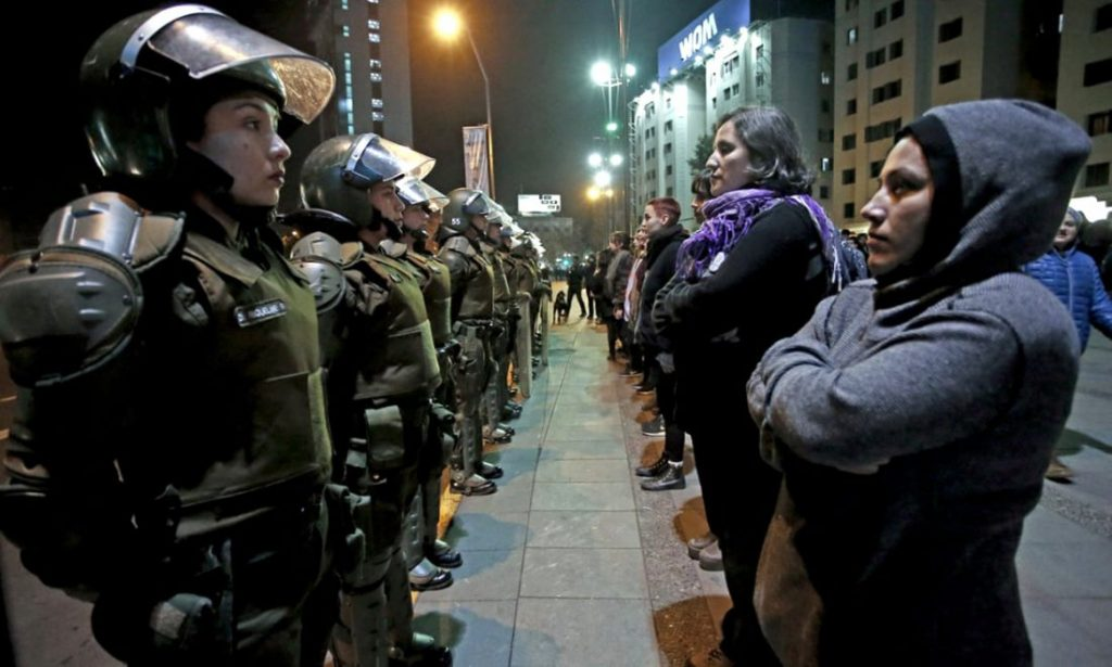 Young women in Chile spur widespread revolt