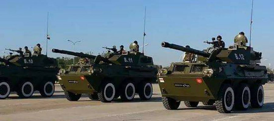 Myanmar Army tank destroyers