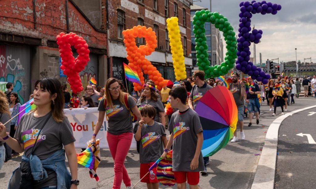 2019 Pride Parade in Dublin, Ireland.
