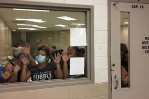 At Fort Brown Station in Texas, 51 women occupy a cell meant for not more than 40 male juveniles.