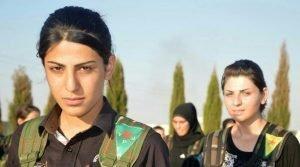 Two Kurdish YPJ fighters
