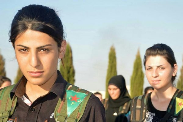 Two Kurdish YPJ fighters