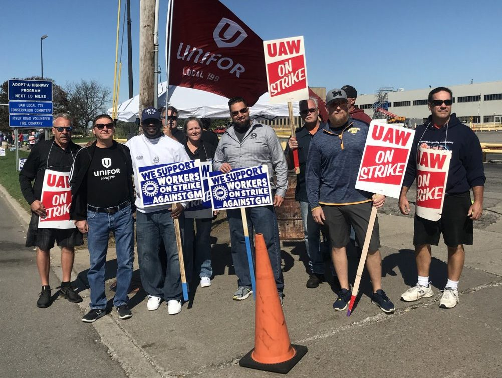 UAW Strikers and supporters