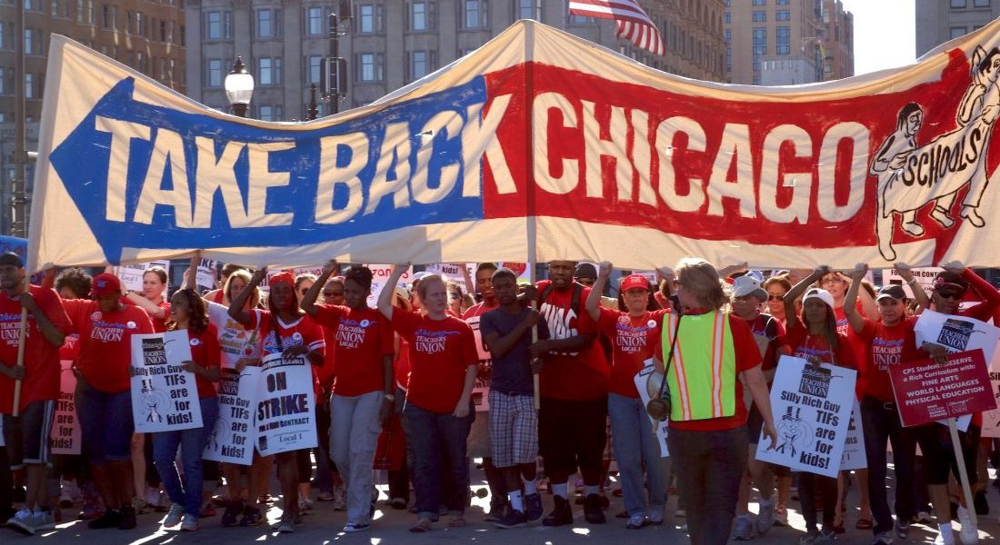 Chicago Teachers' Strike supporters