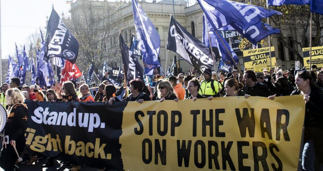 CFMEU led union rally