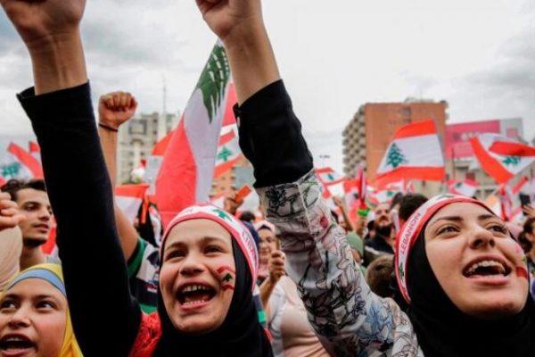 Lebanese protestors