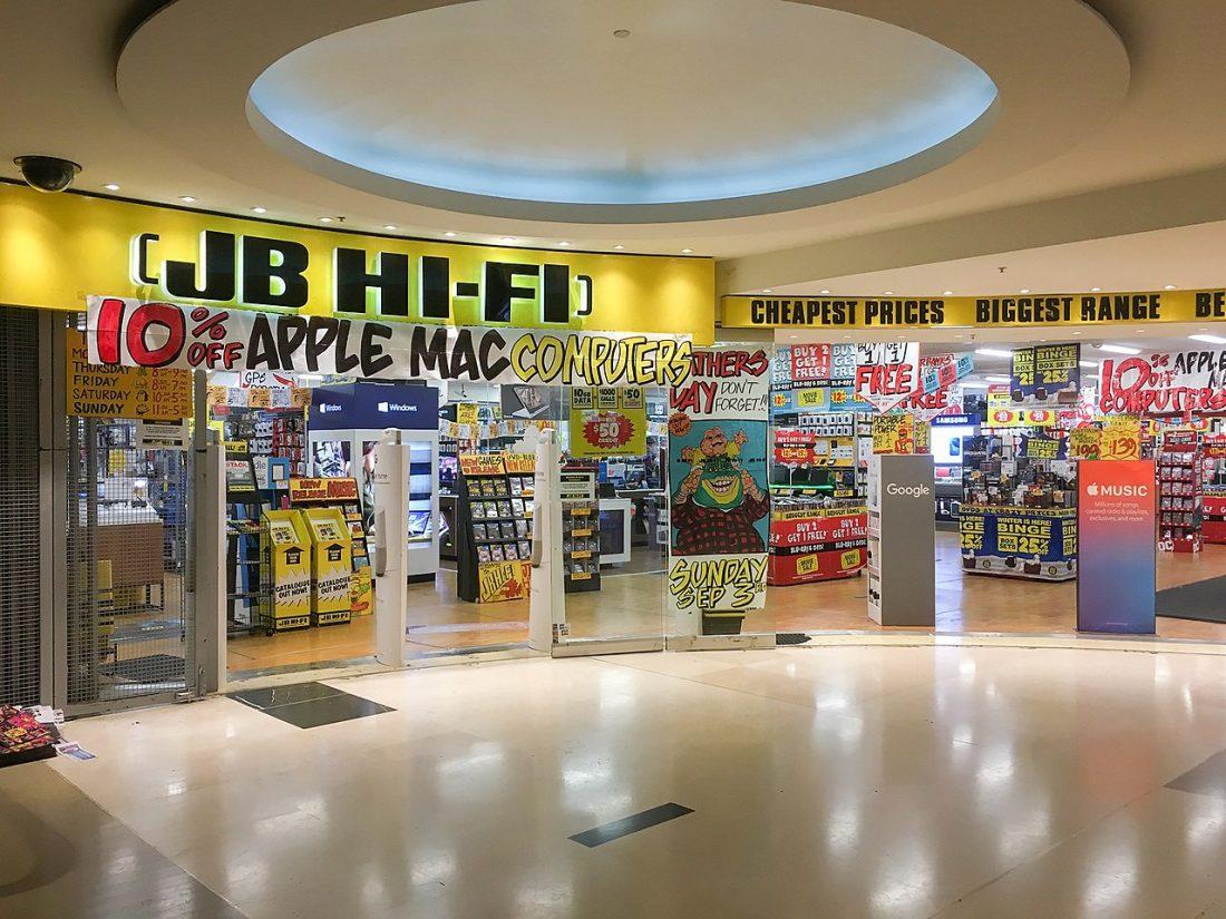 JB Hi Fi storefront