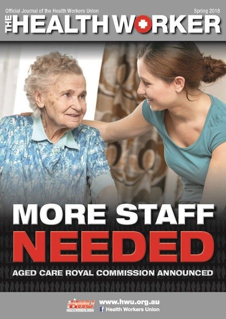 "Headline: ""More staff needed"" on magazine cover"