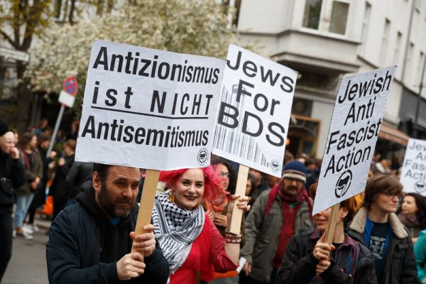Pro-Palestinian protesters in Berlin, Germany