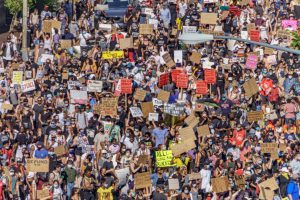 Hundreds protest the Murder of George Floyd in Washington, DC, June 6 2020