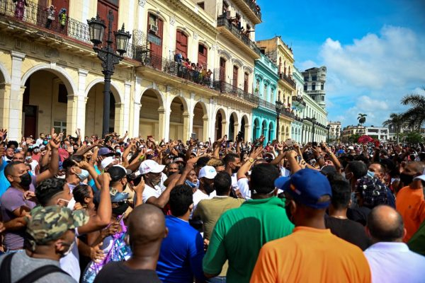 Cuban protestors